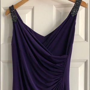 Elegant soft purple plum color w dark grey stones